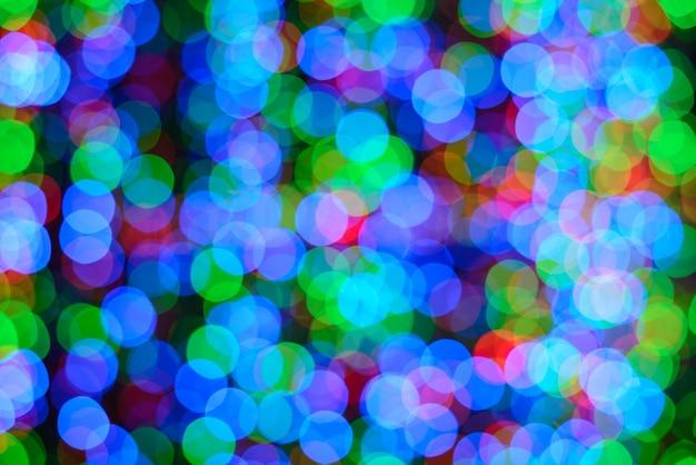 Luzes coloridas com efeito bokeh Foto gratuita