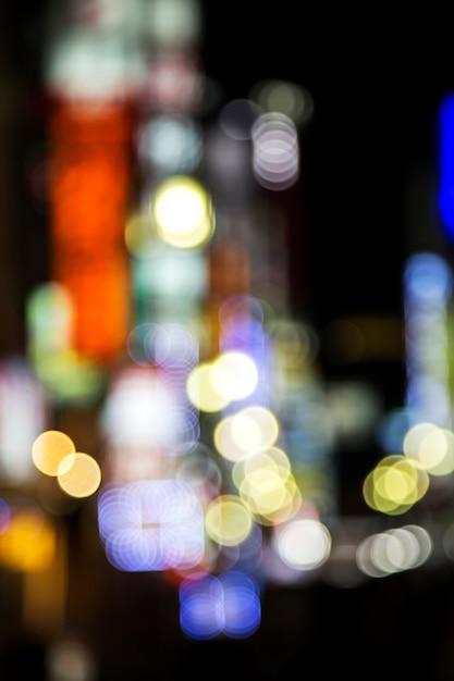 Luzes da cidade desfocado em tóquio Foto Premium