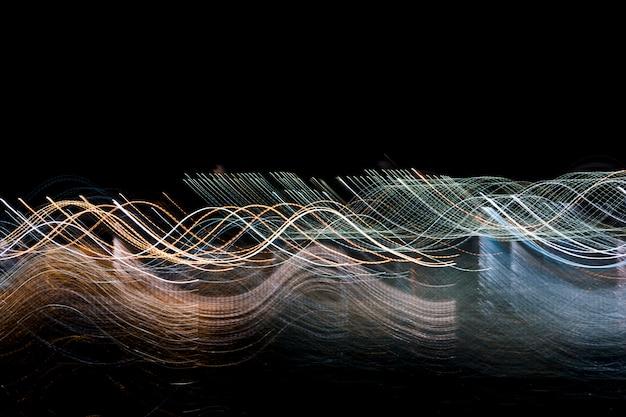 Luzes da noite turva Foto gratuita