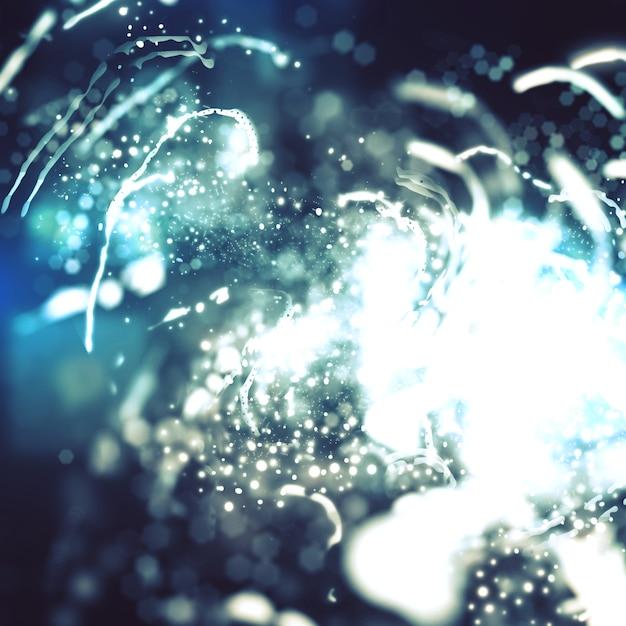 Luzes de fundo abstrato com brilhos e brilhos Foto gratuita
