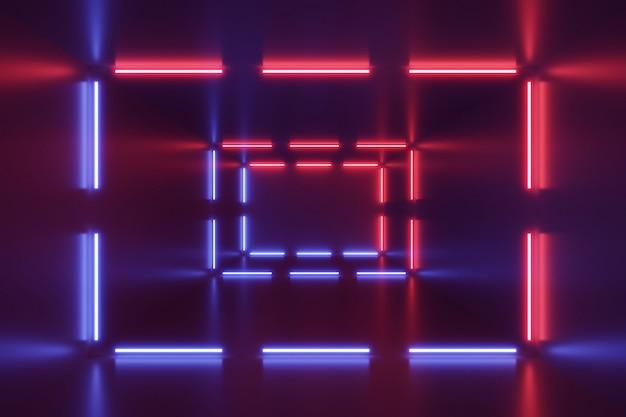 Luzes de néon abstraem base. Foto Premium
