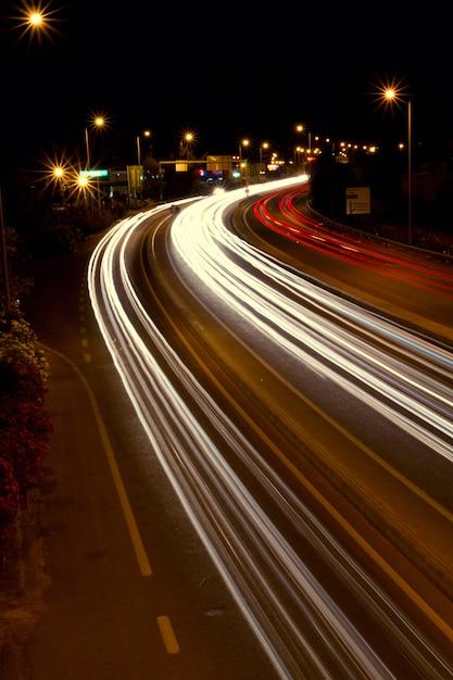 Luzes de trilha intensa Foto Premium