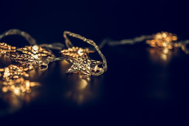 Luzes, decorando, natal, estação Foto Premium