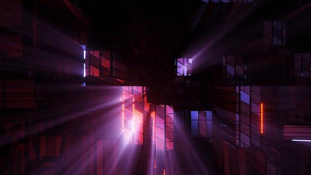 Luzes futuristas de ficção científica - perfeitas para fundos e papéis de parede futuristas Foto gratuita