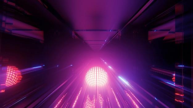 Luzes futuristas e futuristas de techno de ficção científica Foto gratuita