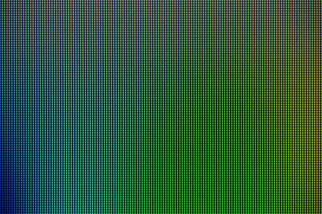 Luzes led do painel de exibição da tela do monitor do computador Foto Premium