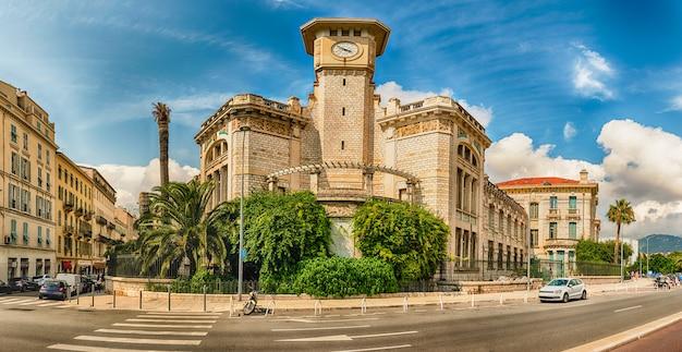 Lycee massena, edifício icônico em nice, cote d'azur, frança Foto Premium
