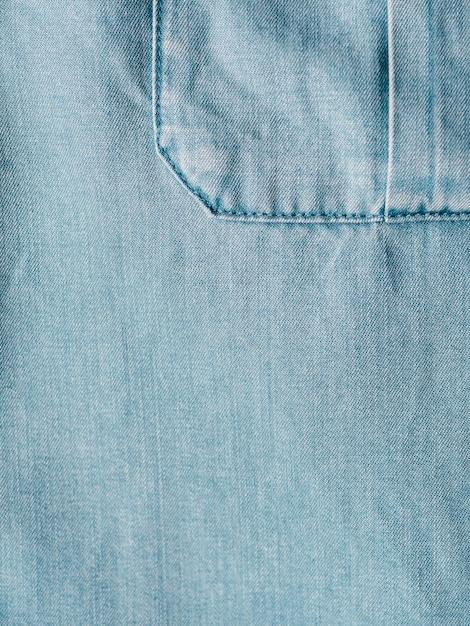 Lyocell ou tencel blue denim textura de fundo Foto Premium
