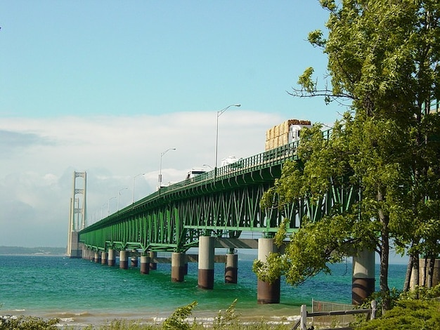 Mac grande lagos lago michigan ponte poderoso Foto gratuita