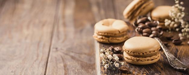 Macarons de café francês Foto Premium