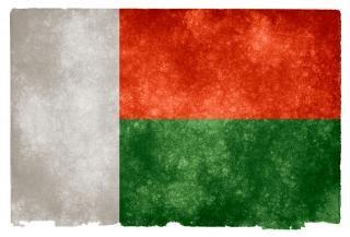 Madagascar orgulho da bandeira do grunge Foto gratuita