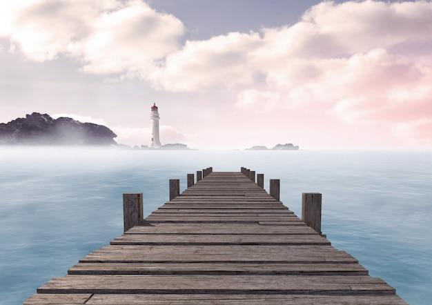 Madeira em pé braços cruzados em branco compreensão Foto gratuita