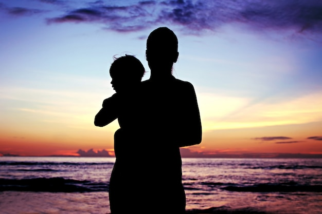 Mãe e bebê Foto Premium