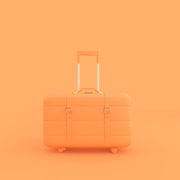 Mala laranja Foto Premium