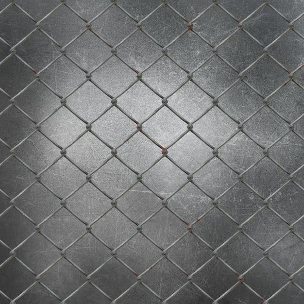 Malha de arame 3d no fundo de metal grunge Foto gratuita