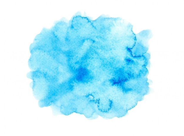 Mancha azul aquarela com tons de cor pintar o plano de fundo Foto Premium