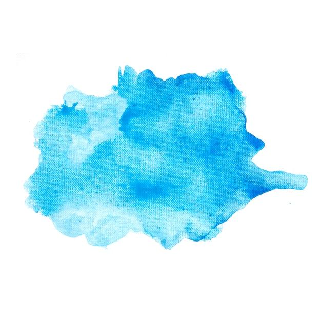 Mancha azul em papel branco Foto gratuita
