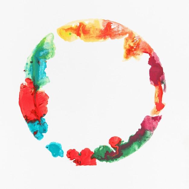 Mancha de aquarela colorida Foto gratuita
