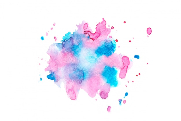 Mancha de aquarela com tons de cor pintar o fundo Foto Premium
