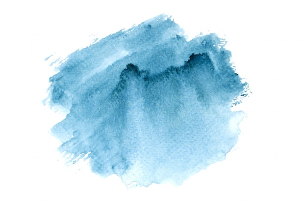 Mancha de aquarela da marinha com tons de cor pintar o fundo Foto Premium