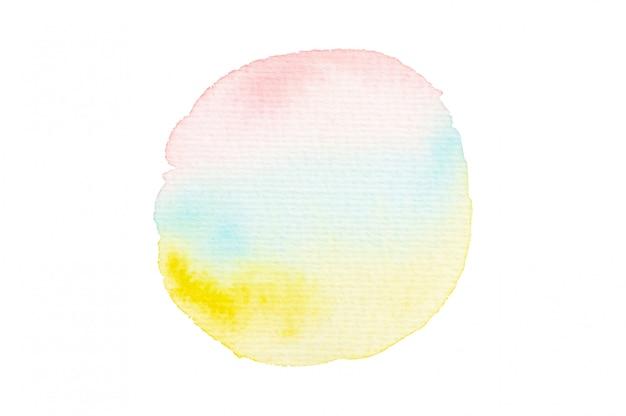 Mancha de aquarela rosa, azul e amarela Foto Premium