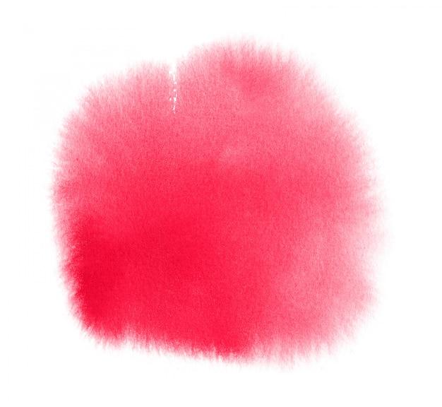 Mancha de aquarela rosa com lavagem. textura aquarela para dia dos namorados ou casamento Foto Premium