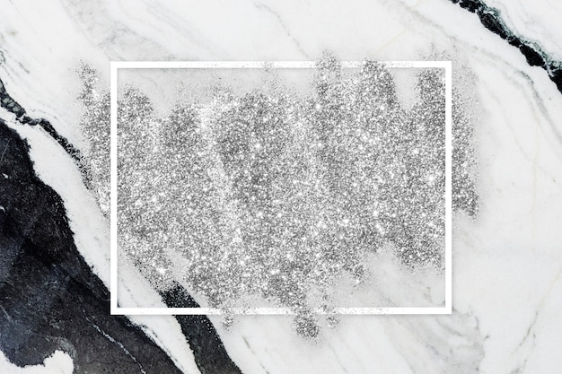 Mancha de glitter prata Foto gratuita
