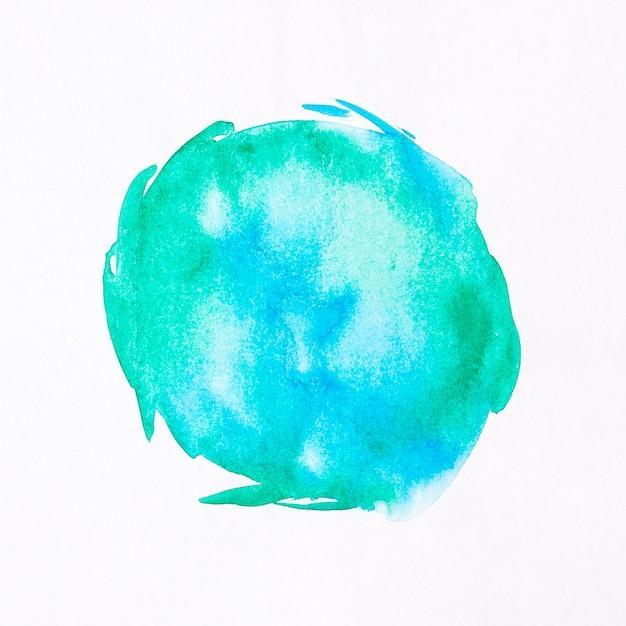 Mancha redonda fundo aquarela Foto gratuita