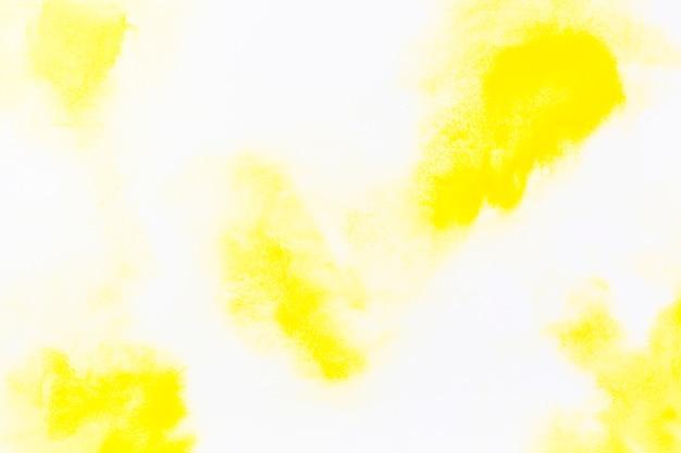 Manchas de aguarela amarela Foto gratuita