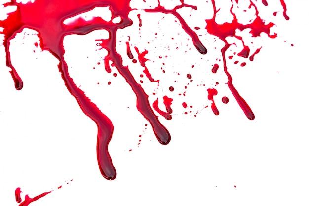 Manchas de sangue em um fundo branco Foto gratuita