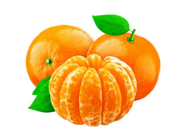 Mandarine isolado no fundo branco Foto Premium