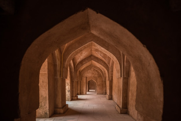 Mandu índia, ruínas afegãs do reino islam Foto Premium