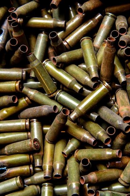 Mangas da metralhadora e metralhadora de grande calibre. Foto Premium