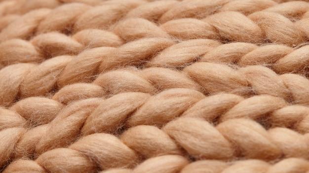 Manta grande de malha artesanal de lã merino Foto Premium