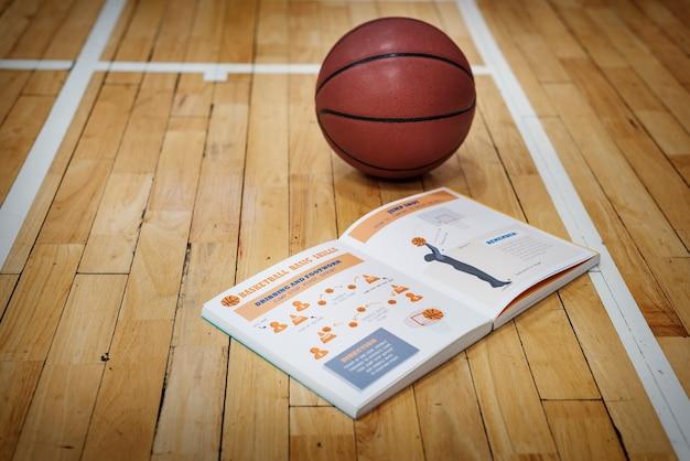 Manual de basquete aprenda conceito de jogo de instrução Foto gratuita