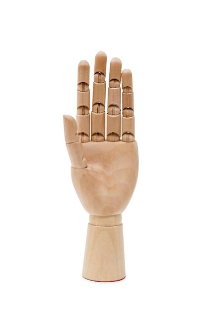 Mão de madeira Foto Premium