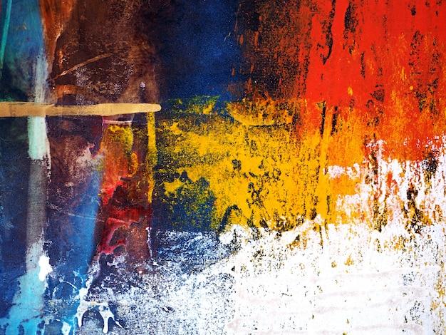 Mão de pintura a óleo colorida desenhar fundo abstrato. Foto Premium