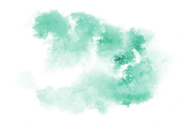 Mão desenhada luz azul aquarela forma Foto Premium