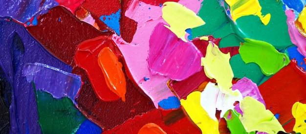 Mão desenhada pintura a óleo. pintura a óleo sobre tela. Foto Premium