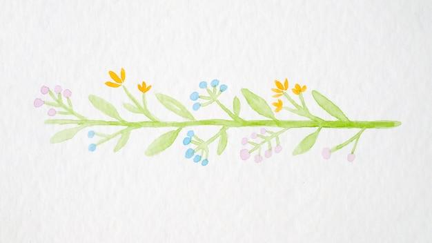Mão, desenho, flores, buquê, aquarela, estilo, branca, papel, fundo Foto Premium