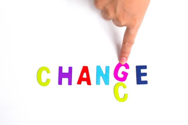 Mão e palavra chance, negócio Foto gratuita