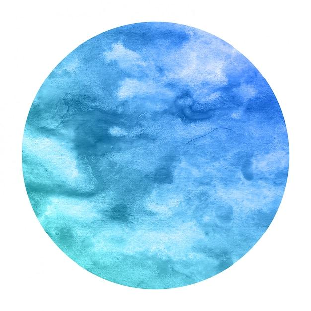 Mão fria azul desenhado quadro circular aquarela Foto Premium