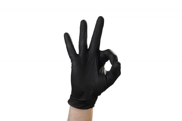 Mão mostra gesto, boa propaganda para a agência de segurança. tudo bem. Foto Premium