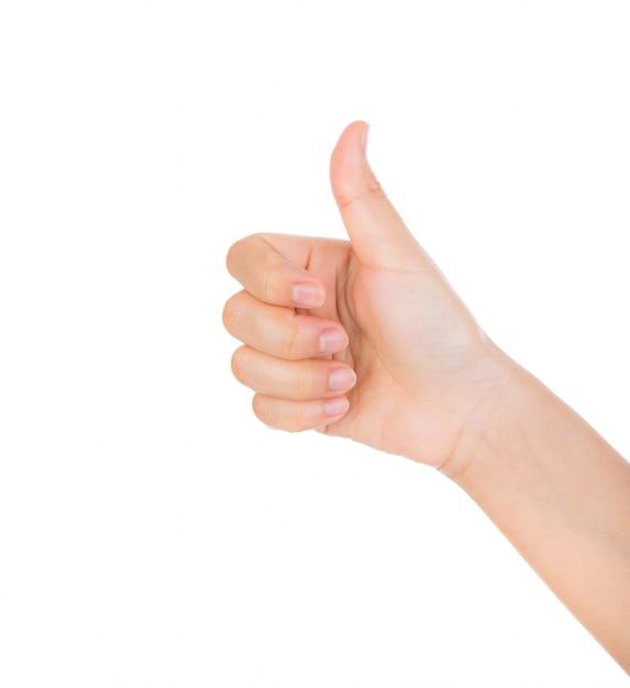 Mão que mostra um gesto positivo Foto gratuita