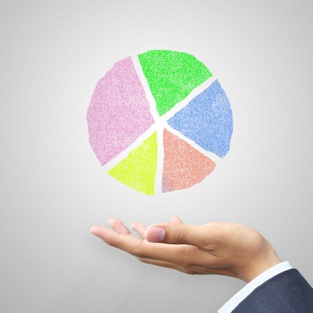 Mão, segurando, círculo, mapa Foto Premium