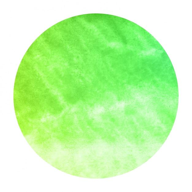 Mão verde extraídas textura de fundo quadro aquarela circular com manchas Foto Premium