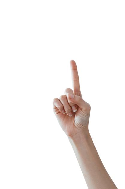 Mãos femininas contando o número 1 Foto Premium
