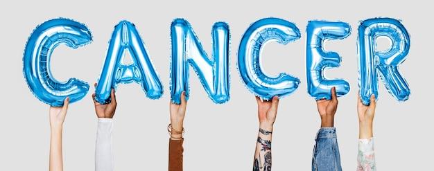 Mãos, mostrando, balões, balões, palavra Foto gratuita