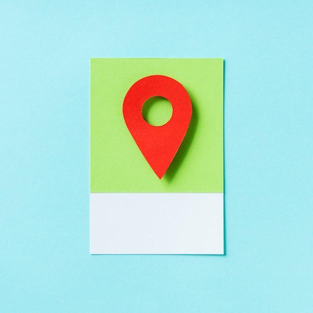 Mapa de localização marcador icon ilustração Foto gratuita
