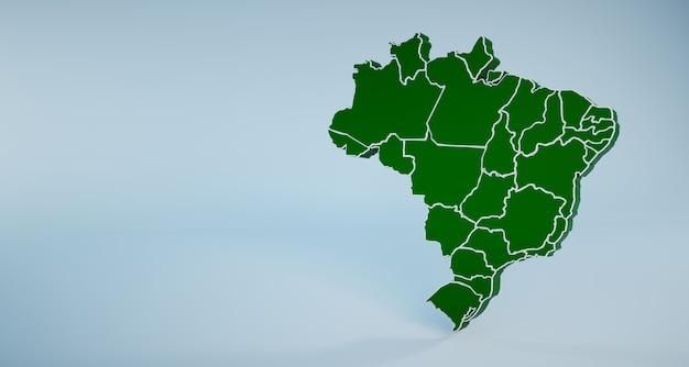 Mapa do brasil com estados e regiões Foto Premium